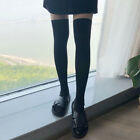Over knee Stockings Socks Cotton Thigh-Highs Stripped Thick  Women Pantyhose US