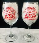 Delta Sigma Theta Wine Glasses (Stemless & With Stem) Gift Set 16 oz 2-Piece Set