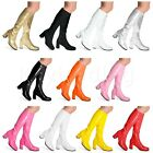 womens ladies mens fancy dress knee high boots 60s 70s disco party boots