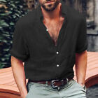 Mens Long Sleeve Thin Dress Shirt Loose Casual Beach Holiday T Shirts Blouse Top