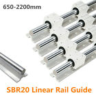 Kyпить SBR20 650-2200mm Linear Slide Rail Guide Shaft Rod with 4Pcs SBR20 Bearing Block на еВаy.соm