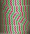 "5 yards 7/8"" CHRISTMAS RED LIME GREEN GLITTER ZIG ZAG CHEVRON GRINCH GROSGRAIN"