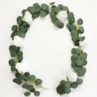 2m Künstliche Eukalyptus Girlande Green Leaf Vine Laub Silk Ivy Leaves Decor