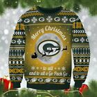 NFL Football Team Xmas Green Bay Packers Sweatshirt 3D Knitting Pattern Ugly $39.99 USD on eBay