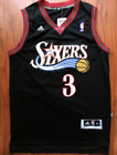 Philadelphia 76ers Allen Iverson Basketball Jersey Throwback Swingman #3 Black