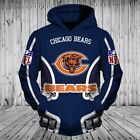 Chicago Bears NFL Football Team Solid Color Pullover Nice Gift 3D Printed Hoodie $49.99 USD on eBay