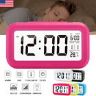 Digital LCD Snooze Electronic Alarm Clock with LED Backlight Control Light Clock