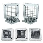 """WYZworks 3-Hole Commercial French Fry Cutter Blade Pusher Block - 1/2"""" 3/8"""" 1/4"""""""