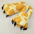Adults Kids Animal Monster Claw Indoor Feet Slippers Winter Funny Plush Shoes UK