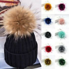 Fashion Diy Faux Fox Fur Fluffy Pompom Ball For Knitting Hat Hats Colorful Gift