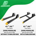 Kyпить 2000lb/4000lb Tractor Pallet Forks Bucket Clamp On For Backhoe/Skid Steer Loader на еВаy.соm