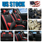 US Deluxe Leather 5-Seats Full Set Auto Car Seat Cover+Pillows Full Surrounded $69.99 USD on eBay