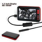 Car 1080P HD LCD Screen Soft Endoscope Bore scope Inspection Video Camera 4.3''
