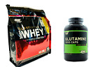 Optimum Gold Standard WHEY PROTEIN 6 lb + GLUTAMINE 240 - FREE Recovery Aminos