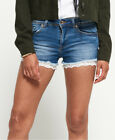 Superdry Denim Lace Hot Shorts <br/> RRP £39.99 - BUY FROM THE OFFICIAL SUPERDRY EBAY STORE