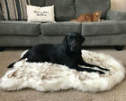 Tyteps Faux Fur Orthopedic Dog Bed Curve White Dog Rug For Big Medium Small SALE