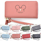 Mickey Mouse Ladies Girls Lovely Clutch Purse Long Leather Card Holder Wallets image