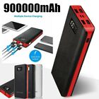 900000mAh Portable Power Bank 4USB Backup External Battery Pack Charge For Phone