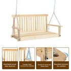 4' Wood Garden Hanging Seat Chains Porch Swing