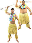 Mens Zulu Warrior Costume Adults Tribal Hawaiian Fancy Dress African Beach Party