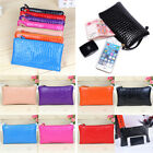 Women Wallet Zipper Crocodile Pattern Purse Clutch Wristlet Coin Key Small Bag image