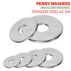 M4 M5 M6 M8 M10 M12 PENNY REPAIR WASHERS MUDGUARD WASHERS STAINLESS STEEL A2-70