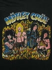 VINTAGE Motley Crue Reprint Black Short Sleeve T-Shirt For Men Size S-4XL G1680 image