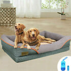 Orthopedic Dog Bed Pet Lounger Deluxe Cushion for Crate Foam Soft Large Size New