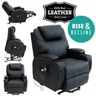 CINEMA ELECTRIC RISE LEATHER RECLINER MOBILITY LIFT CHAIR REFURBISHED