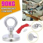 90/120Kg Pull Salvage Strong Recovery Magnet Fishing Treasure Neodymium W/ Rope