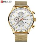CURREN Fashion Casual Sport Men Watches Stainless Steel Business Wristwatch Date