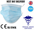 Disposable Face Mask Surgical Respirator Dental Dust Mouth Face Loop (UK STOCK)