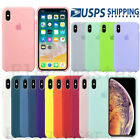 Genuine Original Silicone Case Cover For Apple Iphone X Xs Max Xr 7 8 Plus 11