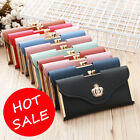 Fashion Women Crown Leather Clutch Phone Long Purse Wallet Card Holder Handbag image