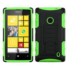Nokia Lumia 520 Robot Hybrid Shockproof Tough Case Cover Kickstand