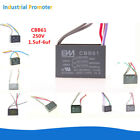 CBB61 Fan Capacitor Speed Regulating Series 2.5uF-6uF Wire 250V 300V AC Ceiling
