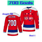 Washington Capitals Alexander Ovechkin 700 Goals Jersey Red Stitched