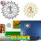 Vintage DIY Large Wall Clock Kit 3D Surface Sticker Home Office Room Decor New