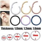 1pc Surgical Steel Hinge Septum Segment Nose Piercing Ear Helix Tragus Ring Hoop image