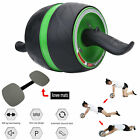 AB Wheel Roller Abdominal Exercisers Body Gym Fitness Workout with Knee Pad NEW image