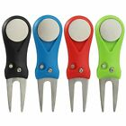 Golf Divot Tool Repair Switchblade Tool Pitch Groove Cleaner Golf Putting Fork