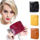 Womens Real Leather Small Mini Wallet Card Holder Zip Coin Purse Clutch Handbag image