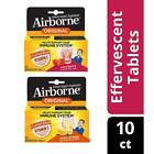 AIRBORNE Effervescent Tablets, Zinc Vitamin C 10 Tablets NEW US STOCK! Immunity