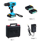 48VF 3000mAh Electric Drill Cordless Rechargeable Power Screwdriver 25+1 Torque