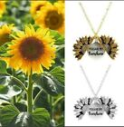 """You Are My Sunshine"""" Sunflower Necklace Hot!!!  Gold & Silver"""