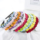 Wedding Bride Rose Flower Headband Crown Hair Band Muti-Color Garland Party Gift