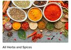 Herbs and Spices Bulk Seasoning 1oz./bag All-Natural All Flavors