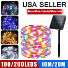 100/200 LED Solar Power String Fairy Lights Garden Outdoor Party Christmas Lamp