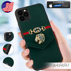 Case iPhone 6 X XR XS 11 Pro Max/Samsung Galaxy Note10 S20Guccy72casesGreen