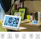 2020 New Alarm Clock Multifunction Silent LCD Digital Large-Screen Travel Desk